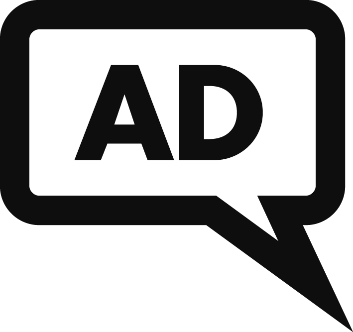 An image of the audio-described performances symbol